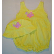 Pretty Butterfly Bubble Romper
