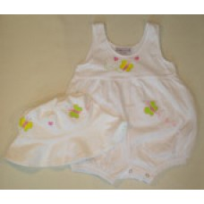 Yellow Butterfly Bubble Romper