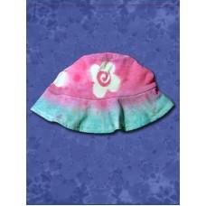 Flower Power Tie Dyed Floppy Hat